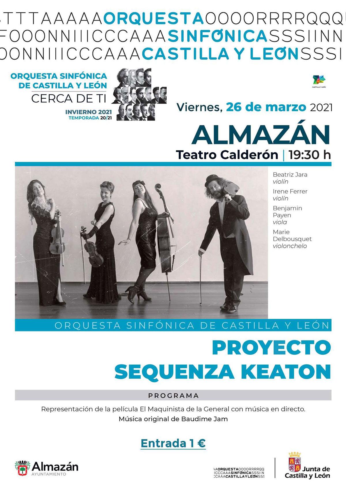 Concierto ofrecido por un cuarteto de la Orquesta Sinfónica de Castilla y León.